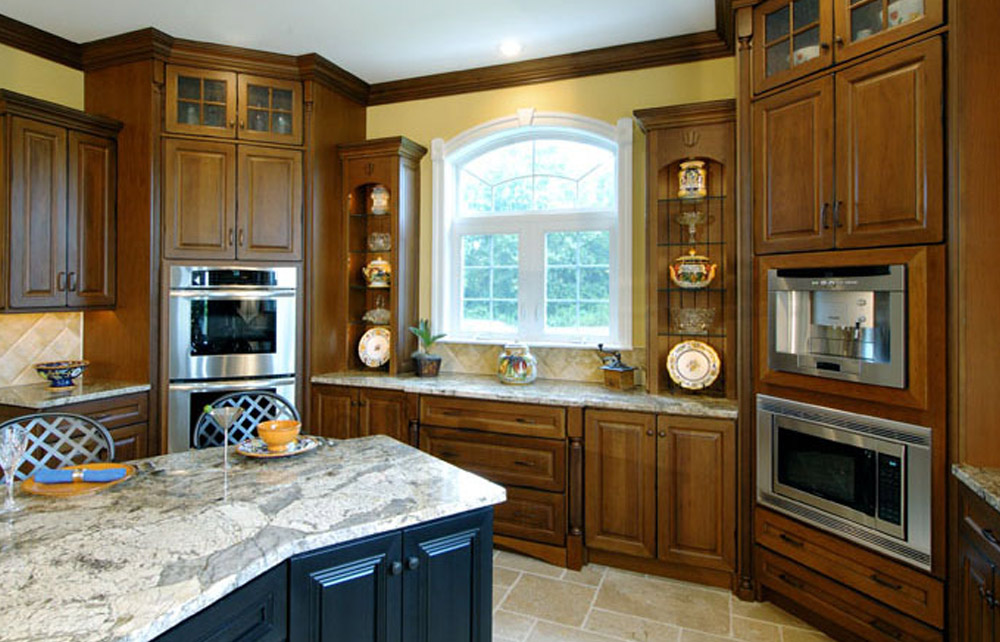 Century Kitchens - European Style Brown Cabinets