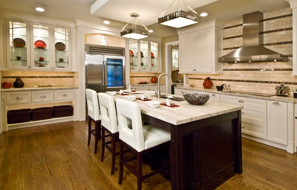 Century Kitchens - White Glass Cabinets