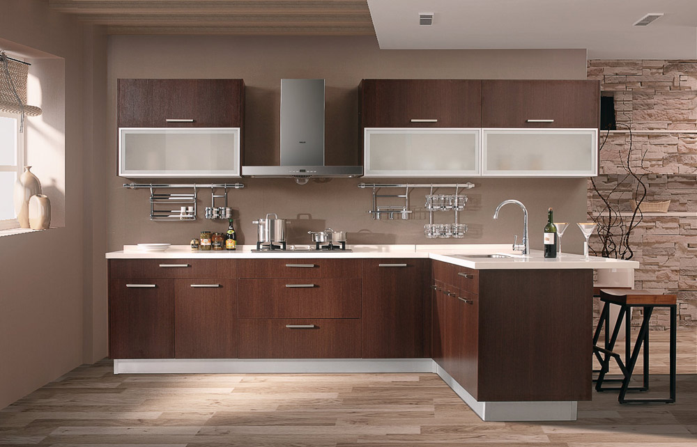 Golden Home Cabinetry - Brown Wood Cabinets
