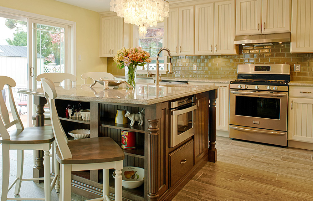 Kabinart - White Cabinets with Large Island