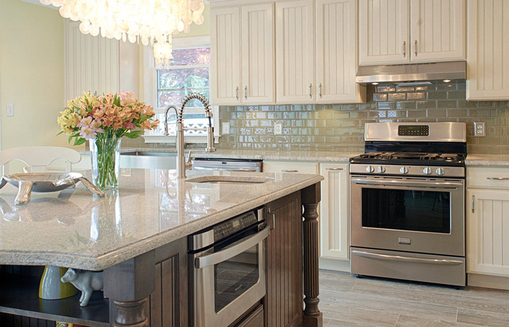 Kabinart - White Cabinets with Stainless Steel Appliances